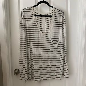 BP Long Sleeve Black and White Striped tee XL